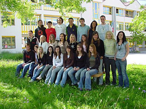 Maturanten der Klasse 5B HOB - Schuljahr 2005/06