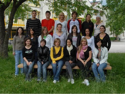 Maturanten der Klasse 5B HOB - Schuljahr 2006/07