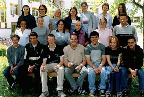 Maturanten der Klasse 5C HOB - Schuljahr 1999/2000