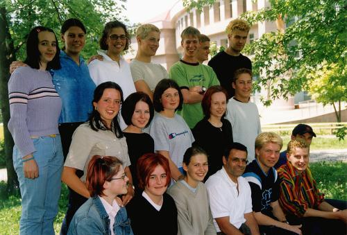 Maturanten der Klasse 5D HOB - Schuljahr 1999/2000